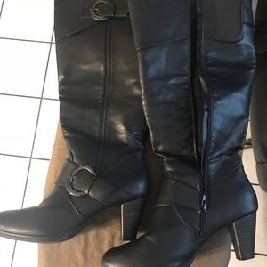 Lane Bryant Heeled boots wide calf- black